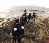 Rebreather diving from Shore