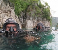 Cave Divers prepping