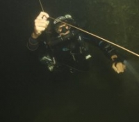 CCR Cave diver on line